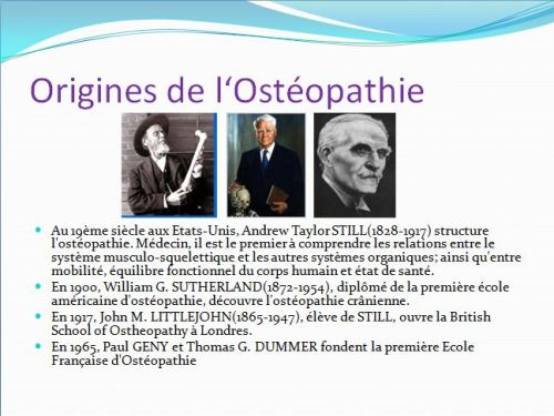 origines de l'Osteopathie