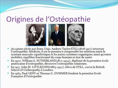origines de l'Osteopathie
