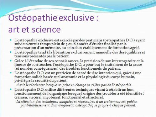 Osteopathie - art et science