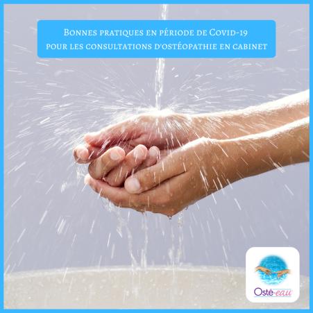 Bonnes pratiques en période de Covid-19 pour les consultations d'ostéopathie en cabinet - Diane Le Berre - Osté-eau