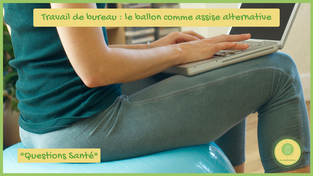 Travail de bureau _ le ballon comme assise alternative - Ma Santé Active - vignette Youtube